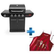 BARBECOOK - Barbecue sumo black + Set tablier + 4 accessoires + Accessoires offerts