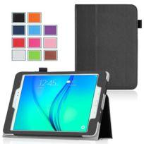 Xeptio - Samsung Galaxy Tab A 9.7 pouces Cuir Pu noir avec Stand - Etui coque de protection tablette