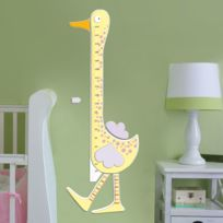 Crearreda - Sticker en relief en mousse toise forme canard jaune Couin