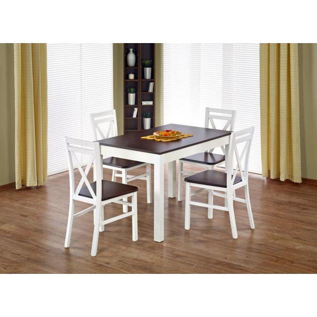 Carellia Table à manger extensible rectangulaire 118÷158 cm x 75 cm x 76 cm
