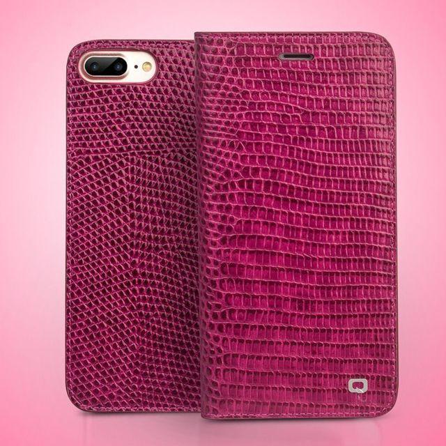 coque portefeuille protection etui rigide en cuir v ritable iphone 7 rose 18647 p