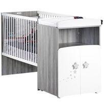 Baby Price - Lit Combiné Evolutif Bébé New Nao - 120x60 cm