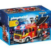PLAYMOBIL - Fourgon de pompier avec sirène et gyrophare - 5363