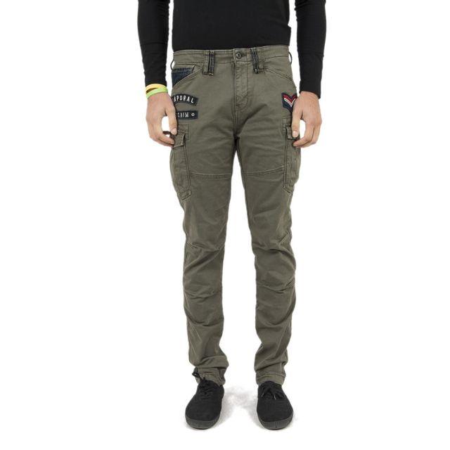 nouvelle arrivee 74580 71aec Pantalons kaporal cali vert