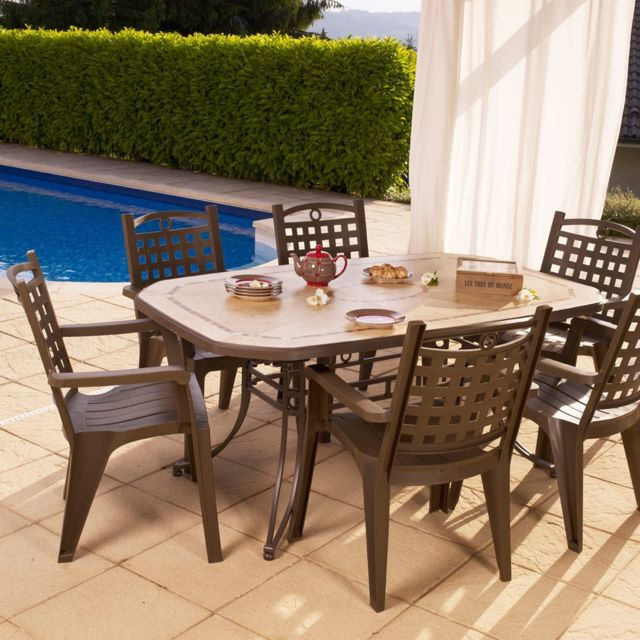 grosfillex salon de jardin de repas amalfi bora design lelogisdelagrange. Black Bedroom Furniture Sets. Home Design Ideas