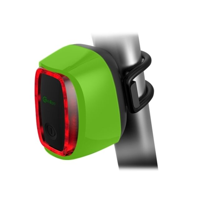 wewoo feu arri re v lo vert 6 mod les flash lumi re de queue de rechargeable pas cher achat. Black Bedroom Furniture Sets. Home Design Ideas