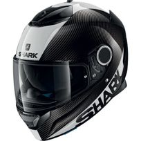 Shark - casque moto intégral en Carbone Spartan Carbon Skin Dws noir blanc brillant 2XL