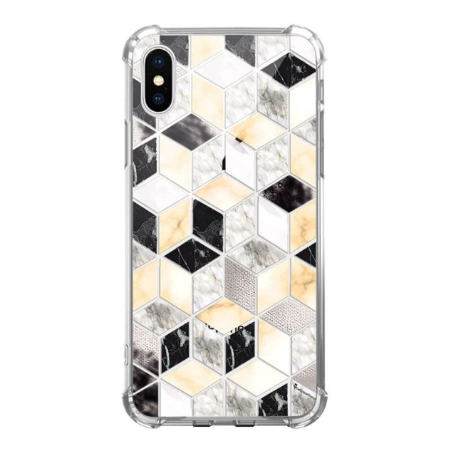 coque iphone xs max marbre blanc