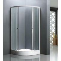 Concept Usine - Paroi De Douche D'ANGLE Luxe Bellagio: L 90 X L 90 X H 198 Cm, Receveur Inclus, Structure En Aluminium Haute QualitÉ