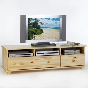 idimex meuble tv bern pin massif vernis naturel pas cher achat vente meubles tv hi fi. Black Bedroom Furniture Sets. Home Design Ideas