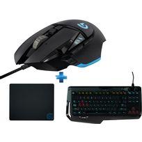 LOGITECH - Pack Gaming G502 Proteus + Clavier mécanique G410 + tapis G240 offert