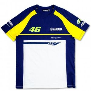 vr 46 t shirt blue royal yamaha vr46 pas cher achat vente t shirts rueducommerce. Black Bedroom Furniture Sets. Home Design Ideas