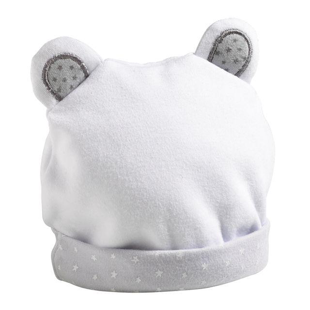1830450772d4 Sauthon - Bonnet bébé naissance - 1 mois Céleste - pas cher Achat   Vente  Casquettes enfant - RueDuCommerce