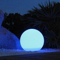 Lumisky - boule lumineuse multicolore rechargeable d'extérieur d.60cm - 303092