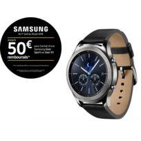 Samsung - Gear S3 Classic - Argent/Noir - Bracelet Cuir
