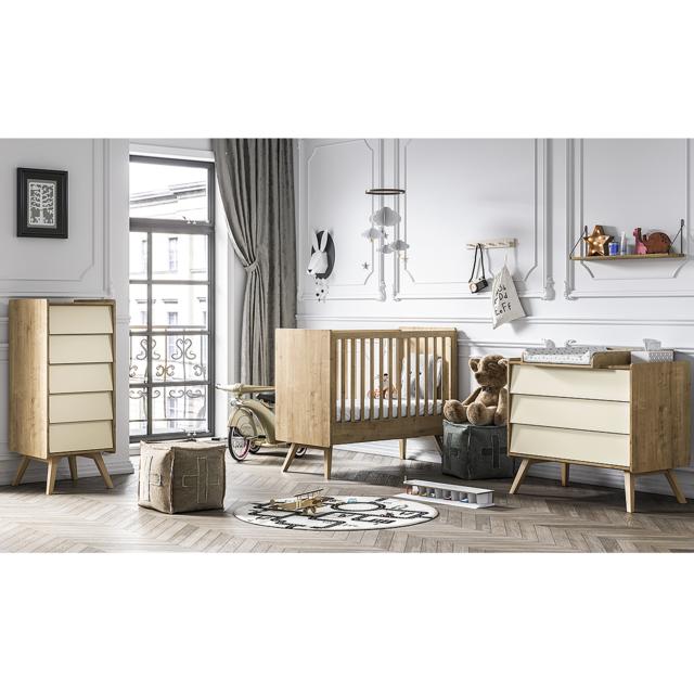 Vox - Chambre complète lit bébé 60x120 - commode à langer ...
