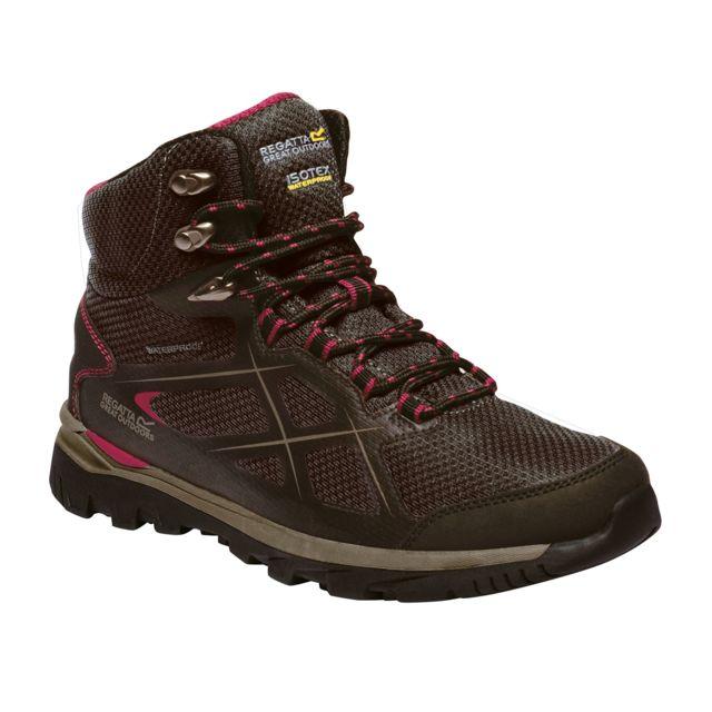 Regatta Chaussures de marche Kota - Femme 41, brun/cerise Utrg2876
