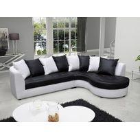 MARQUE GENERIQUE - Canapé d angle en simili OCTAVIA - Bicolore noir et  blanc - 504a13dec0f1