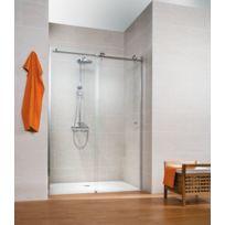 SCHULTE - Portes de douche coulissantes, 120 x 200 cm, verre transparent, Masterclass