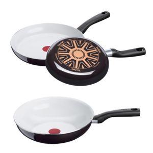 batterie de cuisine tefal ceramic control white 3 pi ces pas cher achat vente batterie de. Black Bedroom Furniture Sets. Home Design Ideas