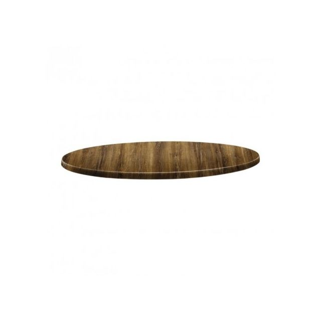Topalit Plateau de table rond - 800 mm - Line atacama cherry - Atacama cherry 800 Ø, mm