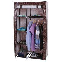 Mendler - Armoire pliable, penderie de camping, garde-robe en tissu, 163x89x43cm