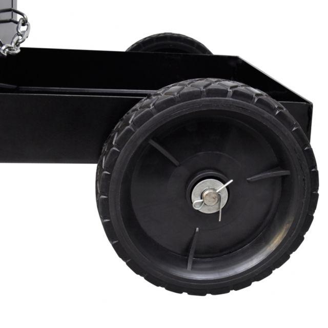Helloshop26 - Chariot pour poste de soudure avec 3 étagères noir outils garage atelier bricolage 3402079