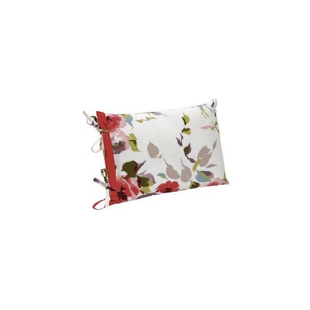 Nouvel Comptoir de famille - Coussin déhoussable 100% coton motif floral MT-33