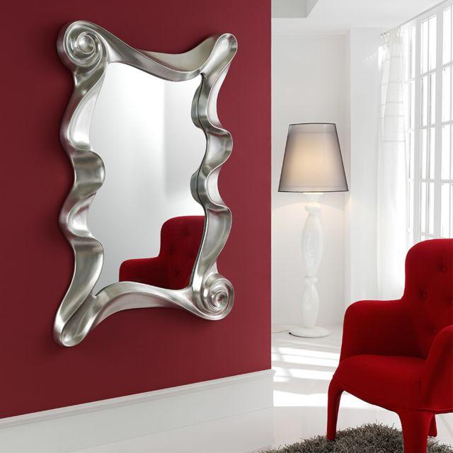 Kasalinea Miroir mural gris argent laqué Lilou 2