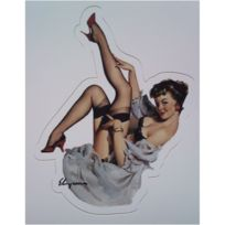 Universel - Mini sticker pin up jambe en l air style retro annee 50
