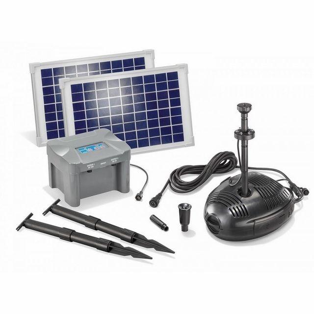 Esotec - Kit pompe solaire bassin Milano Led 20W avec batterie - pas ...