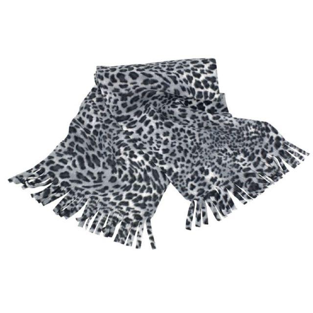 Result - Set gants et écharpe léopard - R366X - noir et blanc - pas ... c7077e13a89