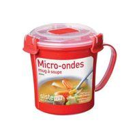 SISTEMA - mug soupe micro-ondes à clips 65