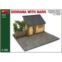 MiniArt - 1/35 Barn Diorama Base With Bonus Figure Set By Dragon Models JAPAN Import