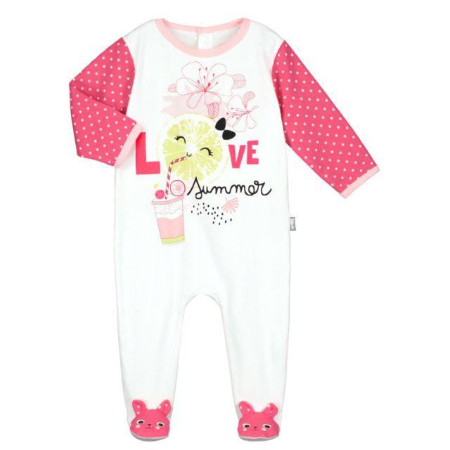 Petit Beguin - Pyjama bébé Strawberry - Taille - 12 mois - pas cher ... d8125356545