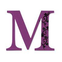 Sizzix - Lettre M DÉCORATIVE Par E.L. Smith Majuscule Sassy Serif