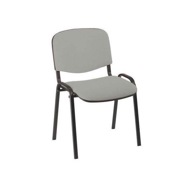 Nowystyl Chaise de conférence standard tissu - gris clair - Lot de 4