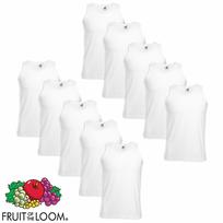 Fruit Of The Loom - 10 débardeurs coton blanc taille S