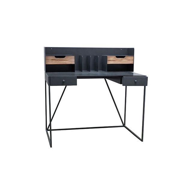 Bureau Metalaz 110x65xH78cm en bois et métal
