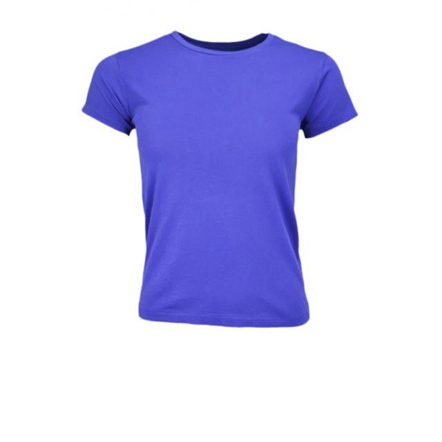 Ralph Lauren - T-shirt col rond Holly bleu pour femme - pas cher ... 3c4b05234c68