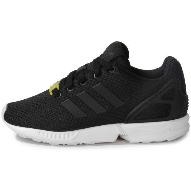 Adidas originals - Zx Flux Enfant Noire Blanche 30 - pas cher Achat / Vente Baskets enfant - RueDuCommerce