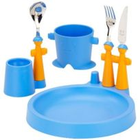 Rivadossi - Trebimbi Puppets Club Service de table enfant Gobelet, assiette, coquetier, couverts Bleu Import Grande Bretagne