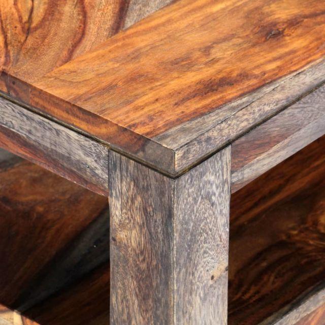 Icaverne - Tables basses ligne Table basse Gris 100 x 50 x 40 cm Bois de Sesham massif