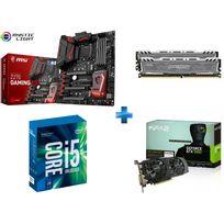 MSI - Carte mère Z270 GAMING M7 Socket 1151 - Chipset Z270 Kabylake + Processeur Intel Core i5-7600K 3.80GHz LGA1151 - KABYLAKE + Ballistix Sport LT 16 Go 2 x 8 Go DDR4 - 2400 Mhz - CAS 16 + GeForce GTX 1060 EX OC 6GB