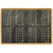 DeBonsol - Tapis enfant Ligne Photographe tables de multiplication noir