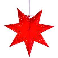 Xmas Living Glass - Bobo Star - Etoile lumineuse Rouge Ø34cm - Guirlande et objet lumineux designé par