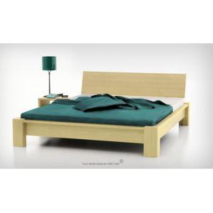 house and garden lit en bois massif giallo hetre 140x200 hetre non pas cher achat vente. Black Bedroom Furniture Sets. Home Design Ideas
