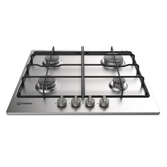 Indesit table de cuisson gaz 59cm 4 feux 7300w inox - thp642ixi