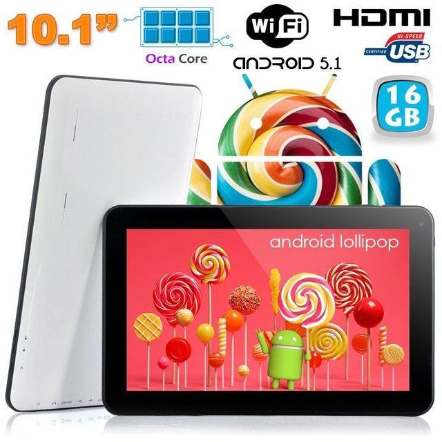 a99fb19619e699 Yonis - Tablette tactile 10 pouces Android Lollipop 5.1 Octa Core 16Go Blanc