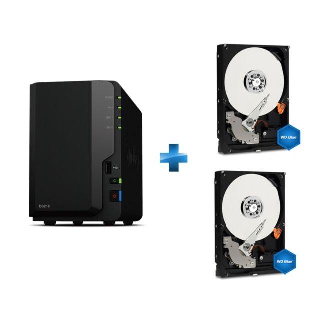 SYNOLOGY - Serveur Nas DS218 + WD Blue Desktop 1 To - BULK + WD Blue Desktop 1 To - BULK